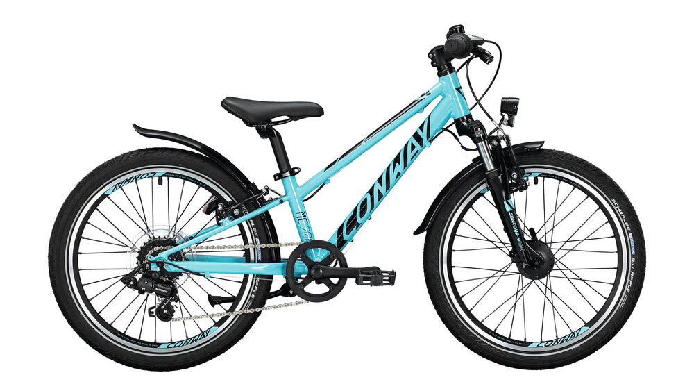 CONWAY MC 200 Suspension 7-Gang SHIMANO  TX-35  turquoise / black 23cm
